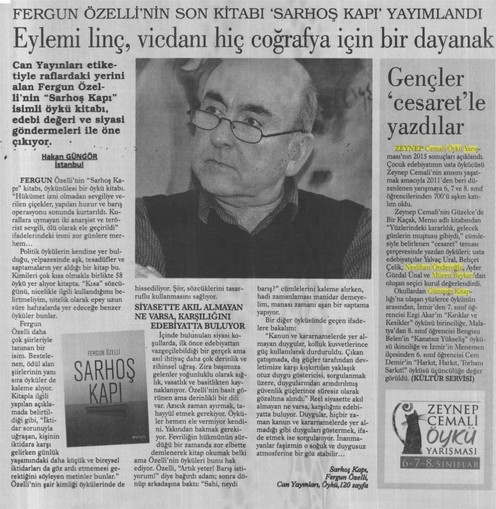 Zeynep Cemali Öykü Yarışması'nın 2011 sonuçları açıklandı 85