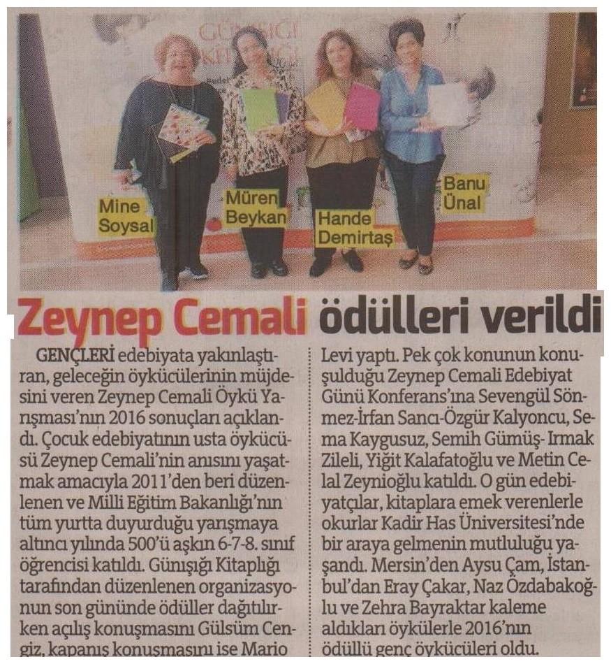 Zeynep Cemali Öykü Yarışması'nın 2011 sonuçları açıklandı 75